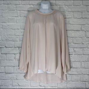 VINCE CAMUTO long sleeve chiffon blouse size XL